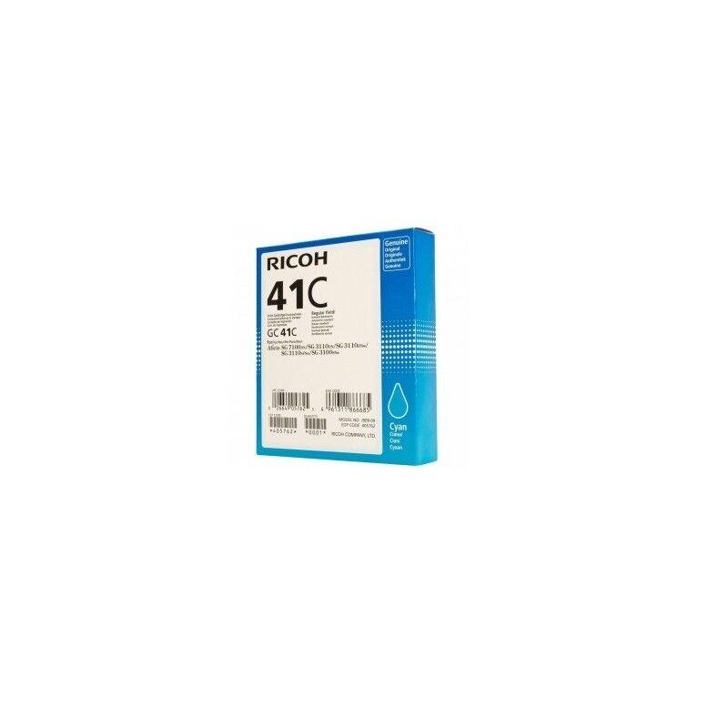 Ricoh Cartouche d'encre cyan haute capacité Ricoh pour Aficio SG3110dnw ... (GC-41C)