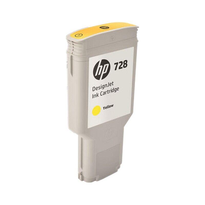 HP Cartouche d'encre Jaune Très Haute Capacité HP Designjet T730 / T830 (N°728)