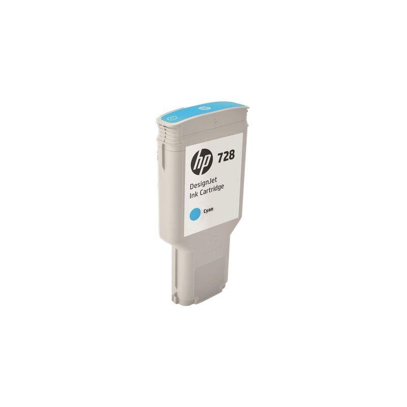 HP Cartouche d'encre Cyan Très Haute Capacité HP Designjet T730 / T830 (N°728)