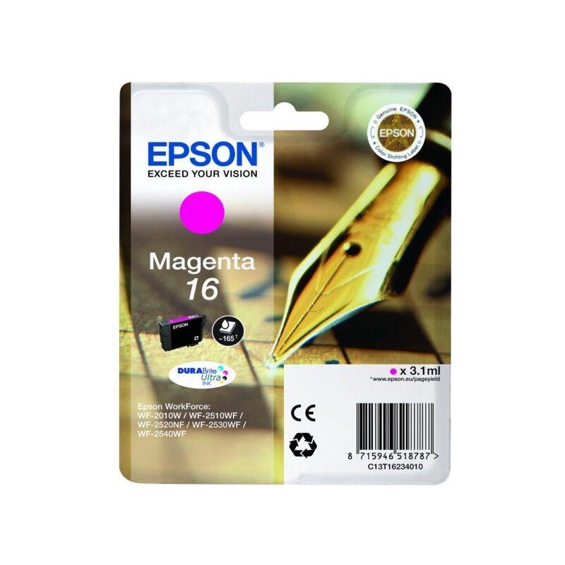 Epson Cartouche magenta Epson pour WorkForce WF-2010w / WF-2520nf ... (n°16 - plume) (C13T16234012)