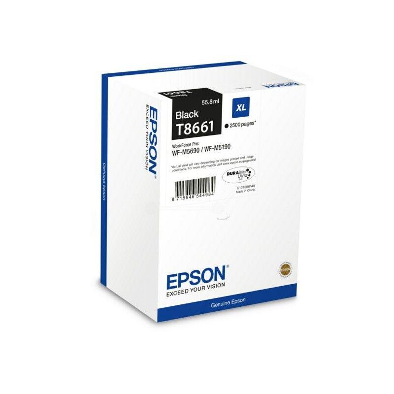 Epson Cartouche jet d'encre Epson Noire pour WorkForce Pro M5190dw / M5690dwf (T8661)