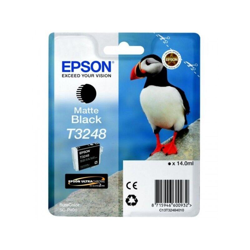 Epson Cartouche Jet d'encre T3248 Noir Mat EPSON MACAREUX (14 ml) pour Imprimante Jet d'encre - Capacité 650 pages