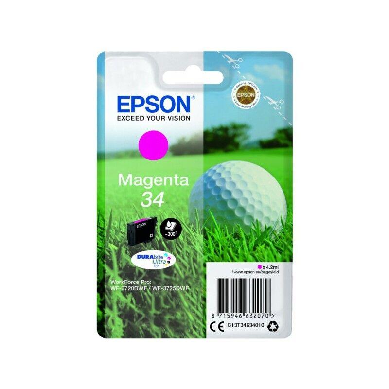 Epson Cartouche d'encre Magenta Epson pour WorkForce 3720DWF/3725DWF .. (n°34) (balle de golf)