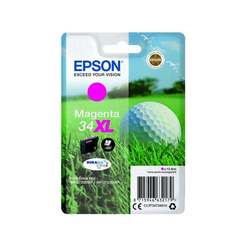 Epson Cartouche d'encre Magenta Haute Capacité Epson pour WorkForce 3720DWF/3725DWF .. (n°34XL) (balle de golf)