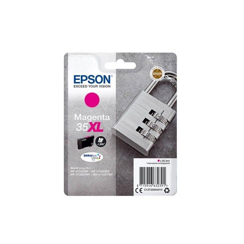 Epson Cartouche d'encre Magenta Haute Capacité Epson pour WorkForce Pro 4720DWF .. (n°35XL) (Cadenas)