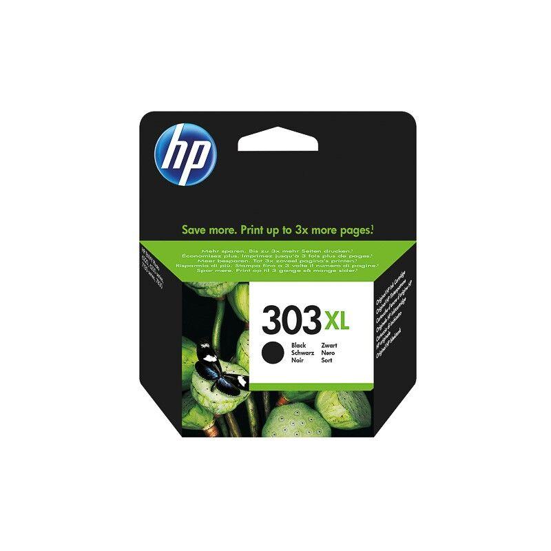 HP Cartouche d'encre noir haute capacité HP pour Envy Photo 6230, 7130, 7830 (N°303XL)