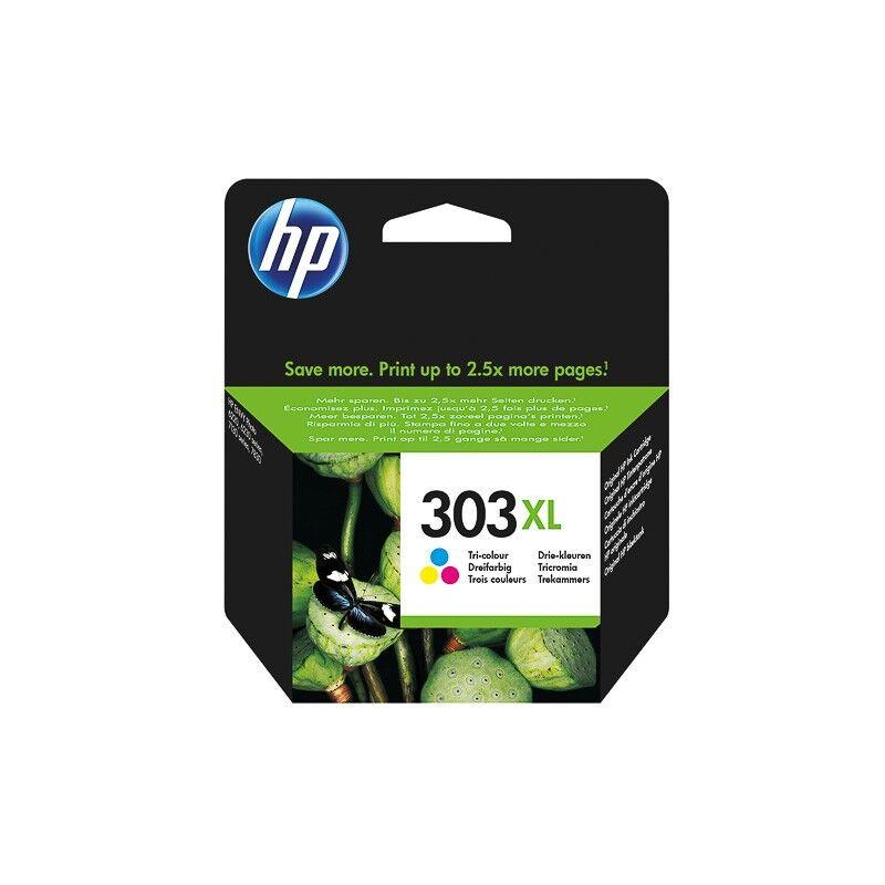 HP Cartouche d'encre couleur haute capacité HP pour Envy Photo 6230, 7130, 7830 (N°303XL)