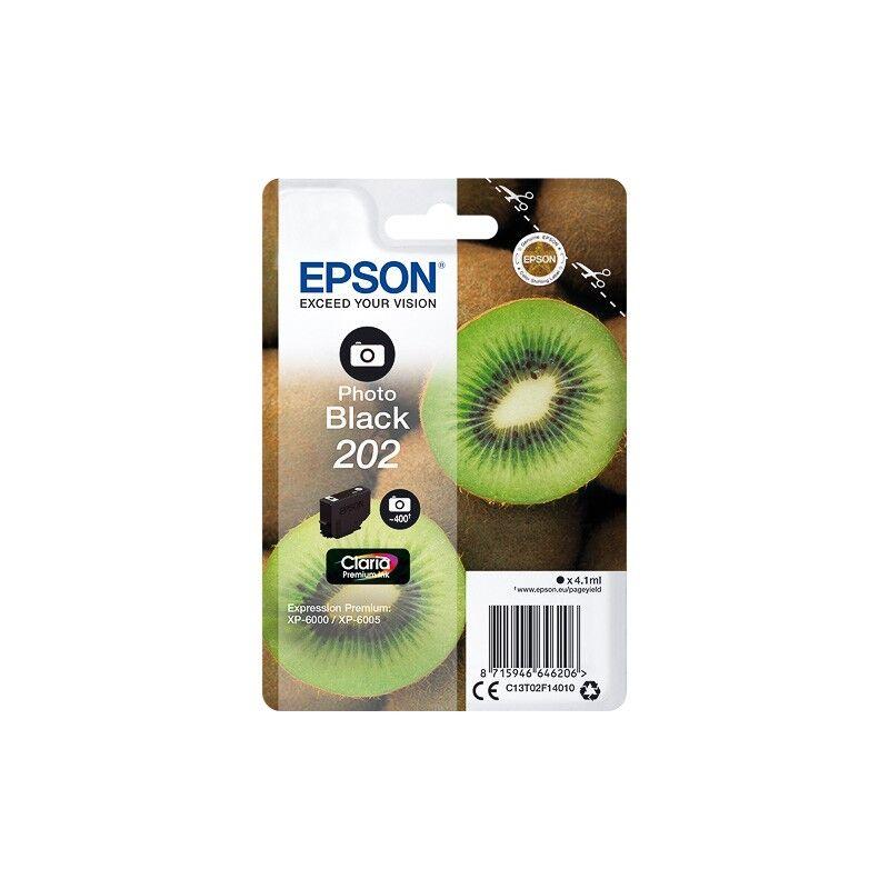 Epson Cartouche Noir Photo Epson pour Expression Premium XP6000- XP6005 - (n°202 - Kiwi)