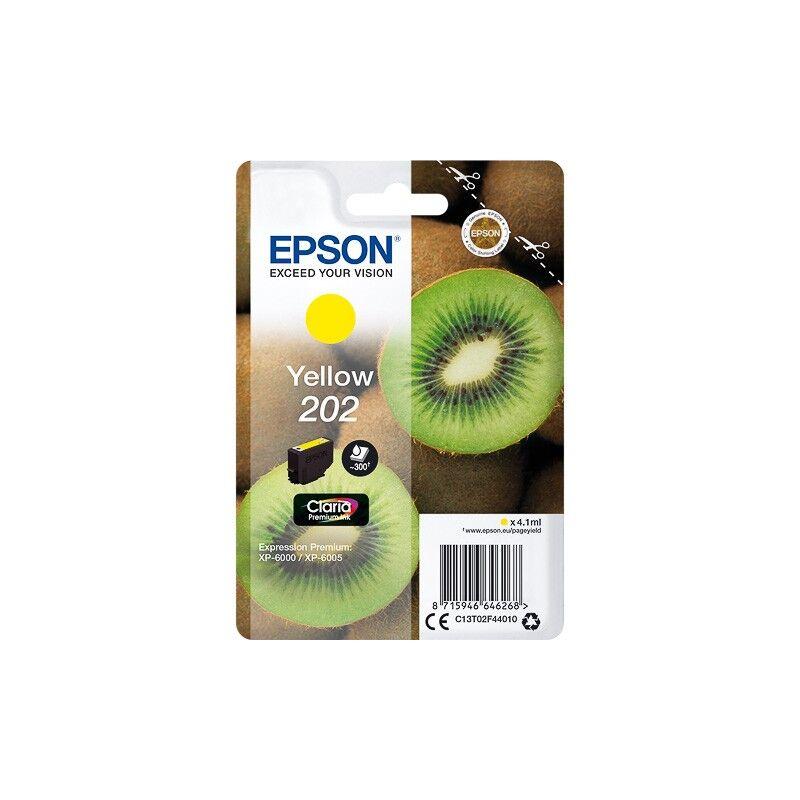 Epson Cartouche Jaune Epson pour Expression Premium XP6000- XP6005 - (n°202 - Kiwi)