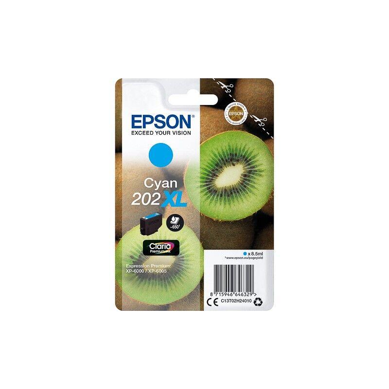 Epson Cartouche Cyan XL Epson pour Expression Premium XP6000- XP6005 - (n°202XL - Kiwi)