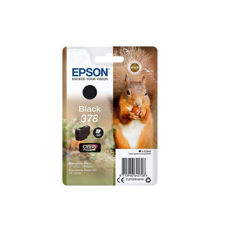 Epson Cartouche Noir Epson pour Expression Premium XP8500- XP8505 ... - (n°378 - Ecureuil)