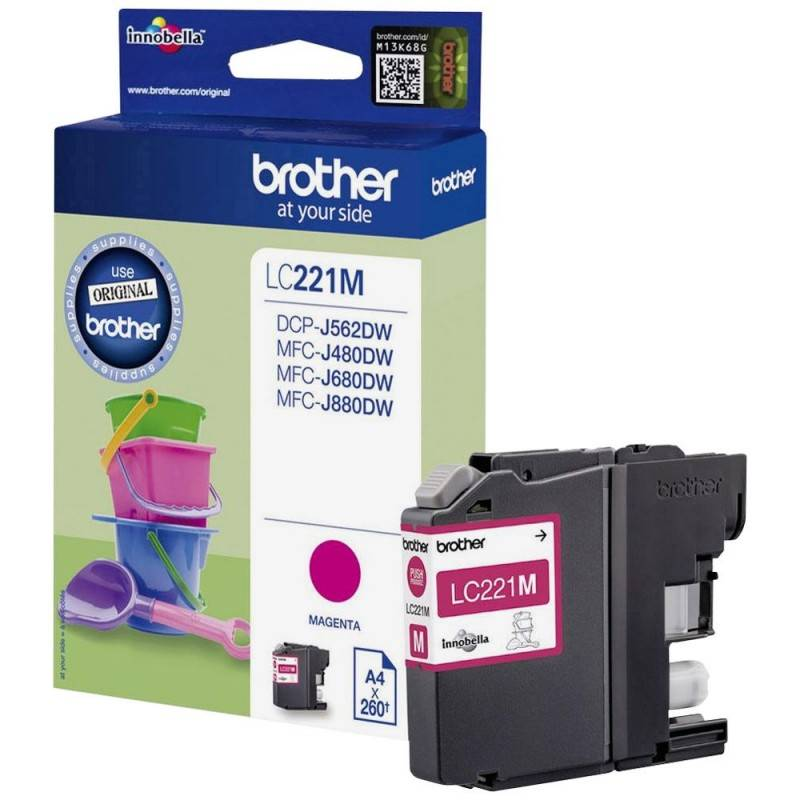 Brother Cartouche magenta Brother pour DCP J562dw / MFC-J680dw /MFC-J880dw...