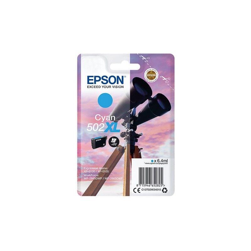 Epson Cartouche d'encre Cyan haute capacité Epson pour WorkForce WF-2860dwf ... (n°502XL) - 470 pages.