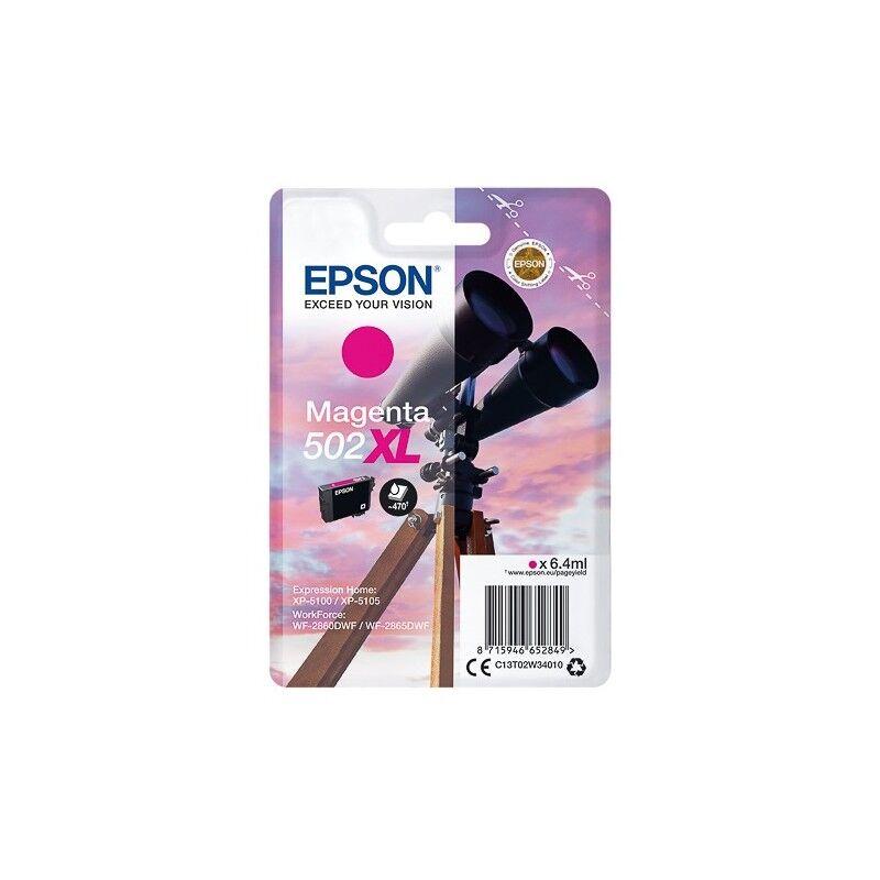 Epson Cartouche d'encre Magenta haute capacité Epson pour WorkForce WF-2860dwf ... (n°502XL) - 470 pages.