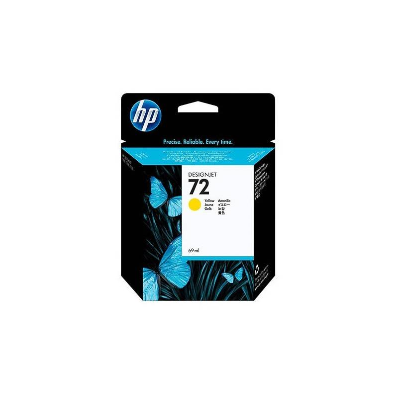 HP Cartouche jaune Vivera HP pour HP T610 / T1100 ... (N°72)