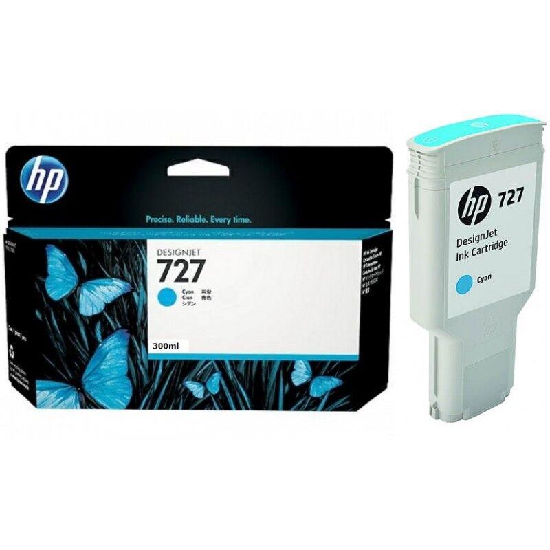 HP Cartouche Cyan Haute capacité HP pour Designjet T1500 / T2500 / T920 (N°727)