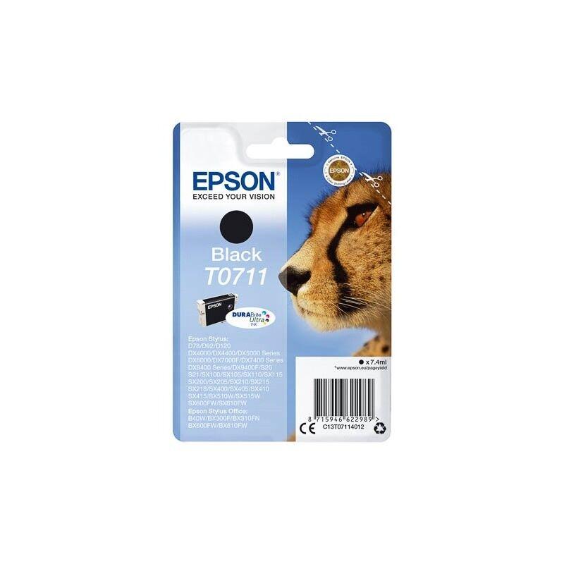 Epson Cartouche d'encre noir Epson pour Stylus DX6050 / 4000 / 5000 (T0711)
