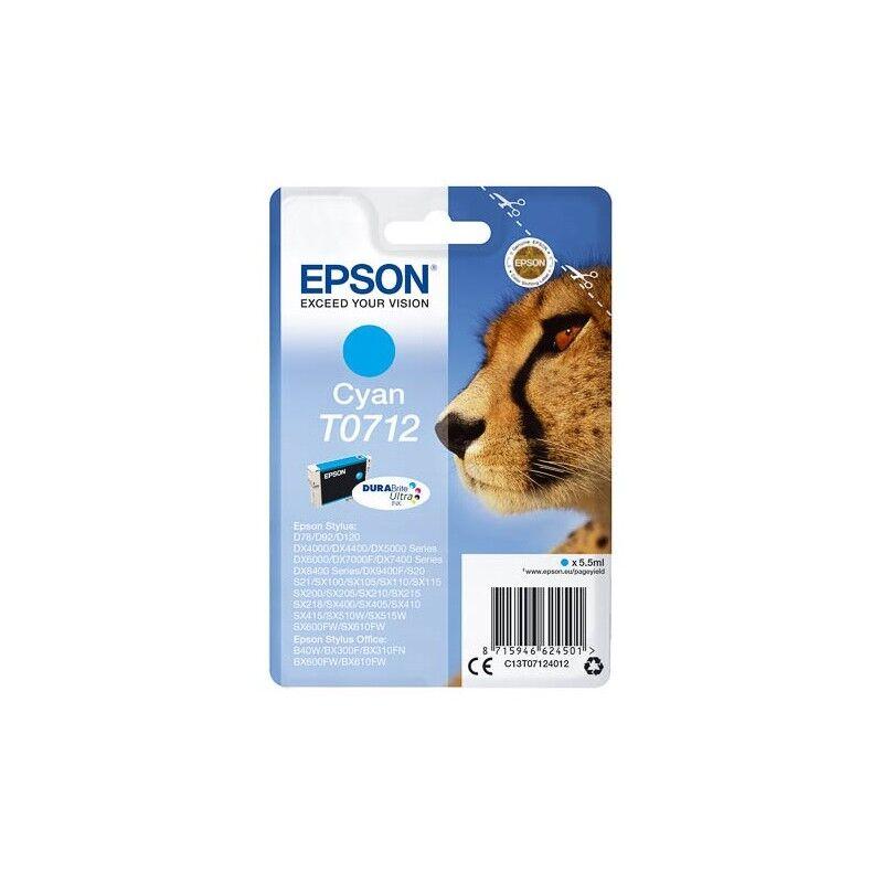 Epson Cartouche d'encre cyan Epson pour Stylus DX6050 / 4000 / 5000 (T0712)