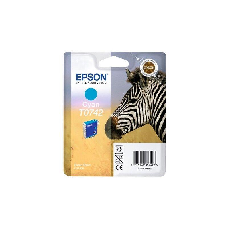 Epson Cartouche d'encre Cyan Epson pour Stylus CX4080 (T0742)