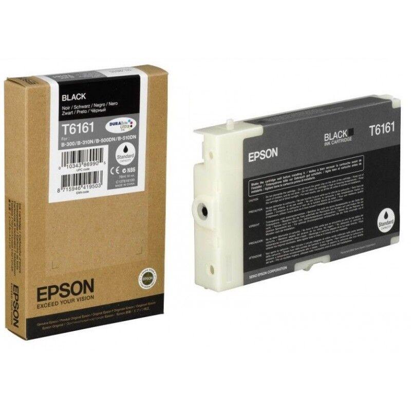 Epson Cartouche d'encre noir Epson pour MicroPiezo B300 / B500DN (T6161)