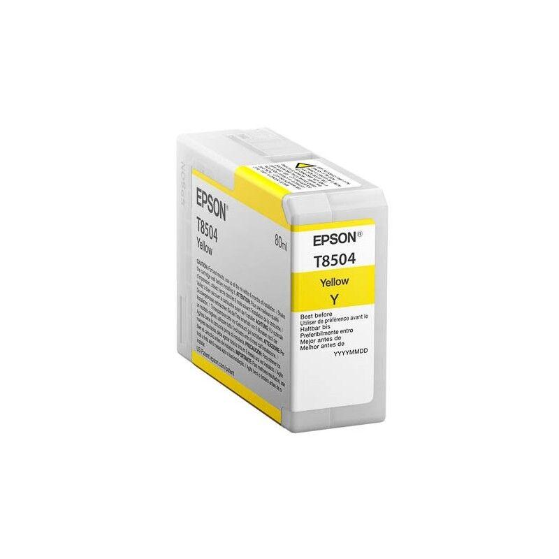 Epson Cartouche d'encre Jaune pour Epson SC-P800 (T8504)