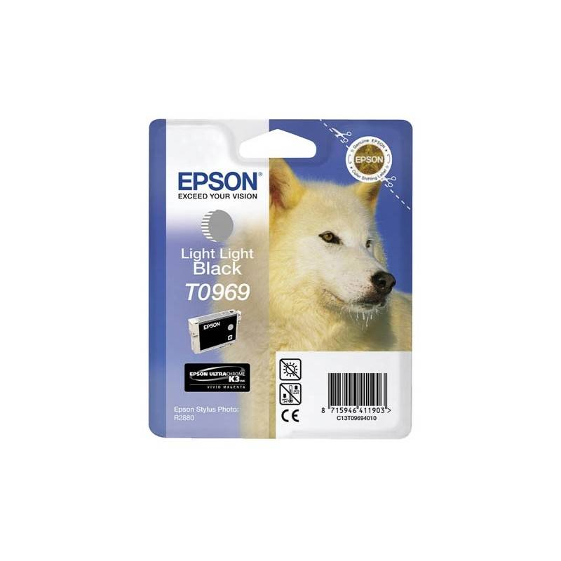 Epson Cartouche Encre EPSON UltraChrome K3 VM Gris Mat R2880 (T0969)