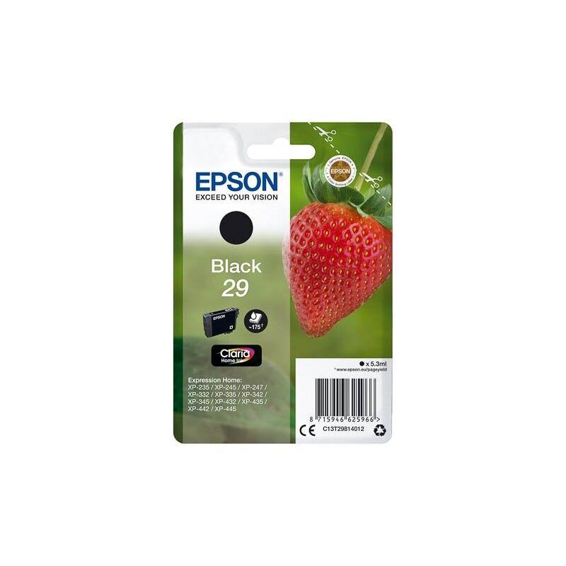 Epson Cartouche Noire Epson pour Expression Home XP-235 / XP332 / XP-432 ... (n°29 - fraise) (C13T29814012)