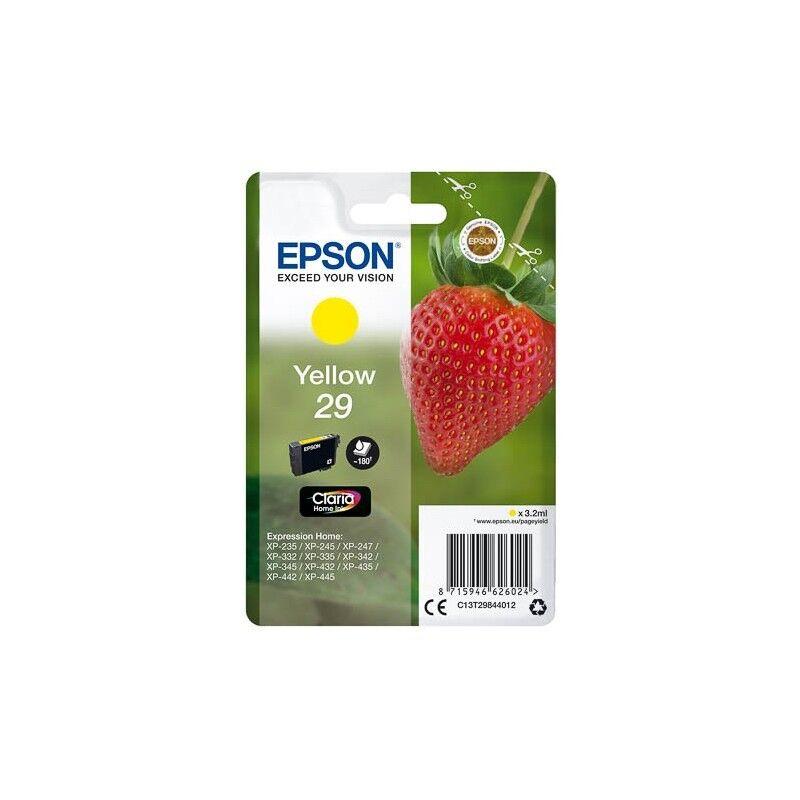 Epson Cartouche Jaune Epson pour Expression Home XP-235 / XP332 / XP-432 ... (n°29 - fraise) (C13T29844012)