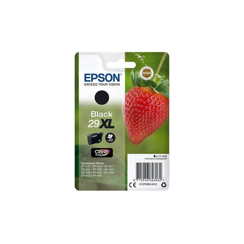 Epson Cartouche Noire Epson Haute Capacité pour Expression Home XP-235 / XP332 / XP-432 ... (n°29XL - fraise) (C13T29914012)