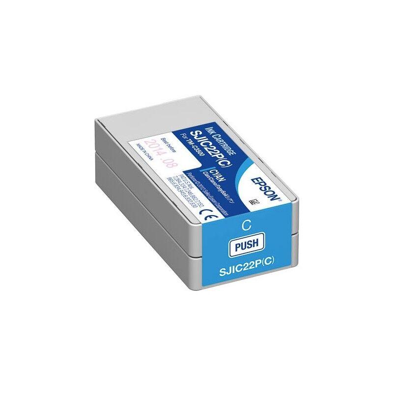 Epson Cartouche Cyan pour Epson TM-C3500 - ColorWorks C3500 (SJIC22P)