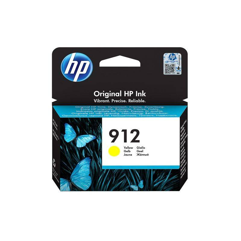 HP Cartouche jet d'encre Jaune HP pour Office Jet Pro 8012 / 8022 ....(N°912)