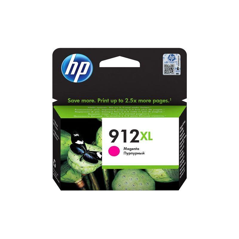 HP Cartouche jet d'encre Magenta haute capacité HP pour Office Jet Pro 8012 / 8022 ....(N°912XL)