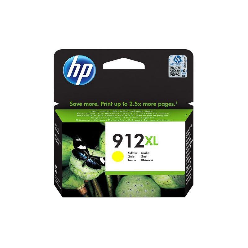 HP Cartouche jet d'encre Jaune haute capacité HP pour Office Jet Pro 8012 / 8022 ....(N°912XL)