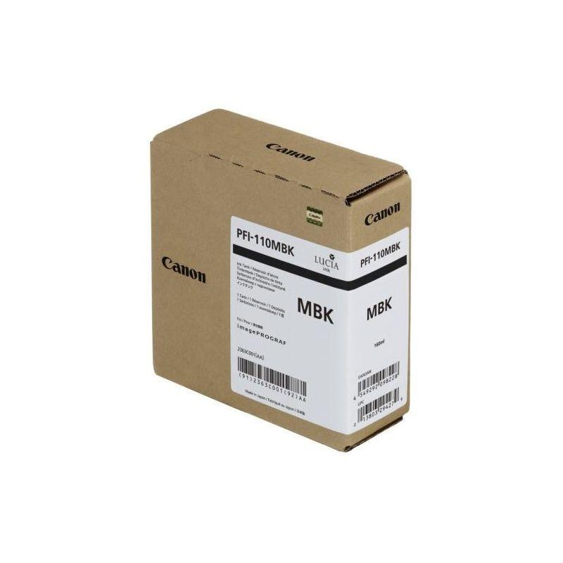 Canon Cartouche d'encre noire Mat Canon pour Image Prograf TX2000, TX3000 (PFI110MBK)