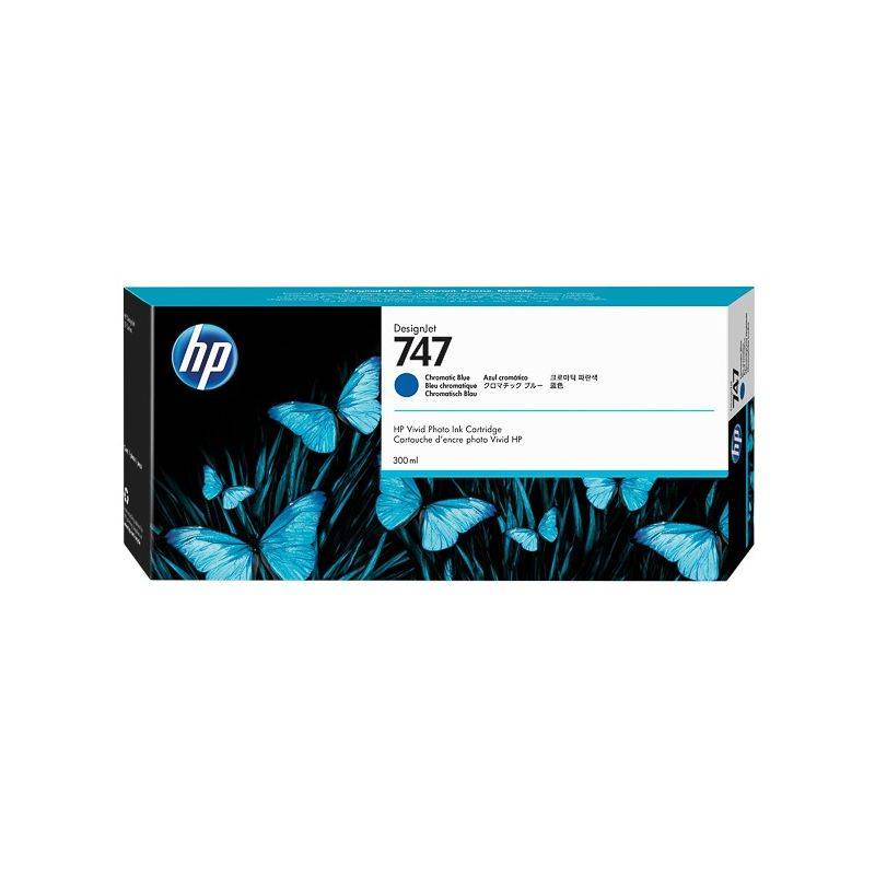HP Cartouche Bleu Chromatique HP pour Designjet Z9+- Z9+ dr... (N°747)