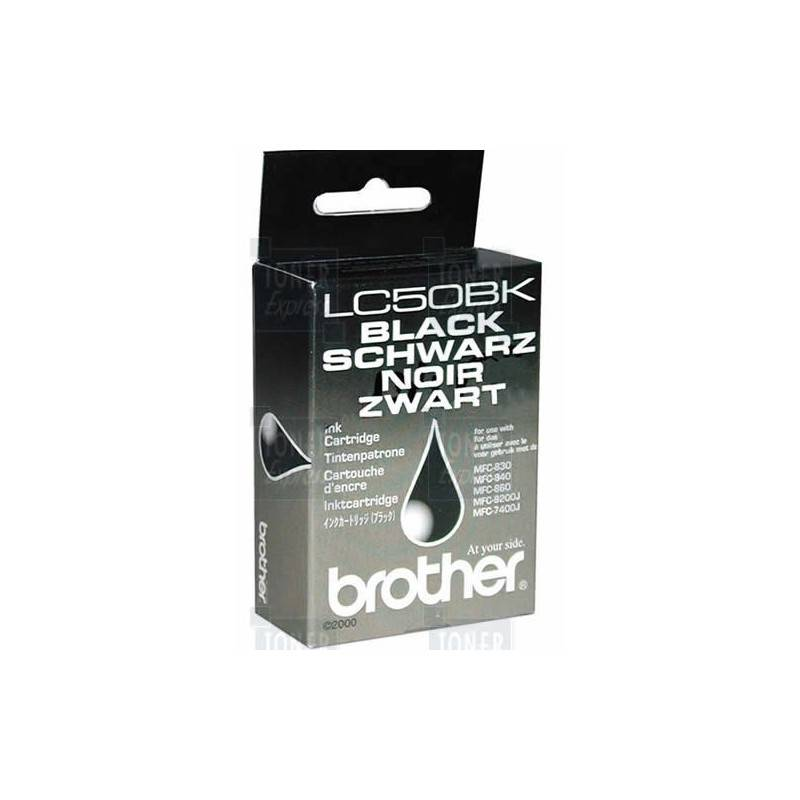Brother Cartouche d'encre Brother LC50BK Noire