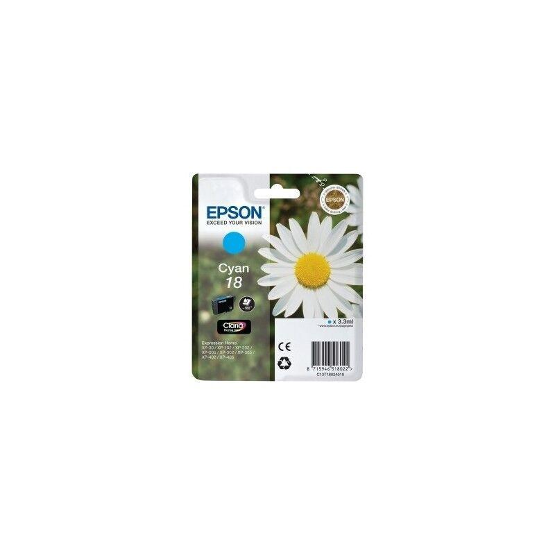 Epson Cartouche cyan EPSON pour Expression Home XP-205 / XP-30 ... (N°18)