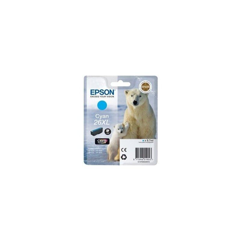 Epson Cartouche cyan haute capacité EPSON pour Expression Home XP-600... (N°26XL) (ours)