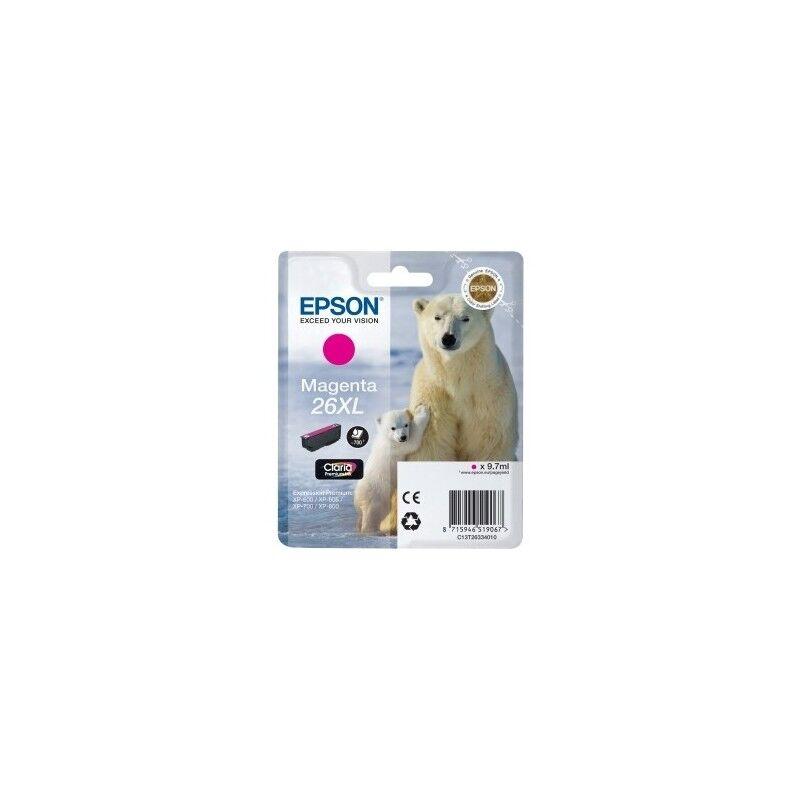 Epson Cartouche magenta haute capacité EPSON pour Expression Home XP-600... (N°26XL) (ours)