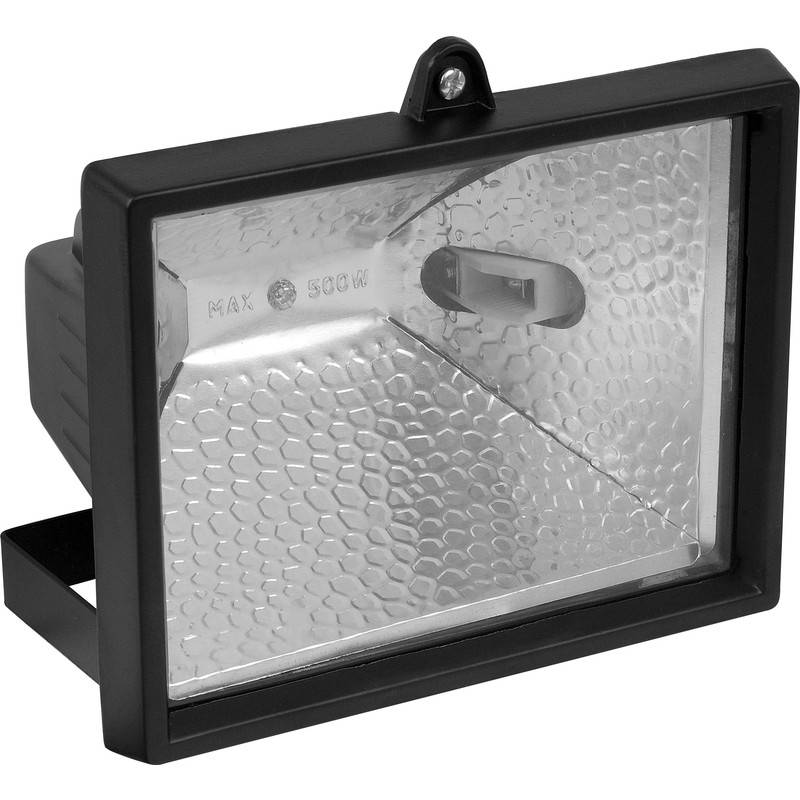 Toolstation Projecteur halogène 500W noir