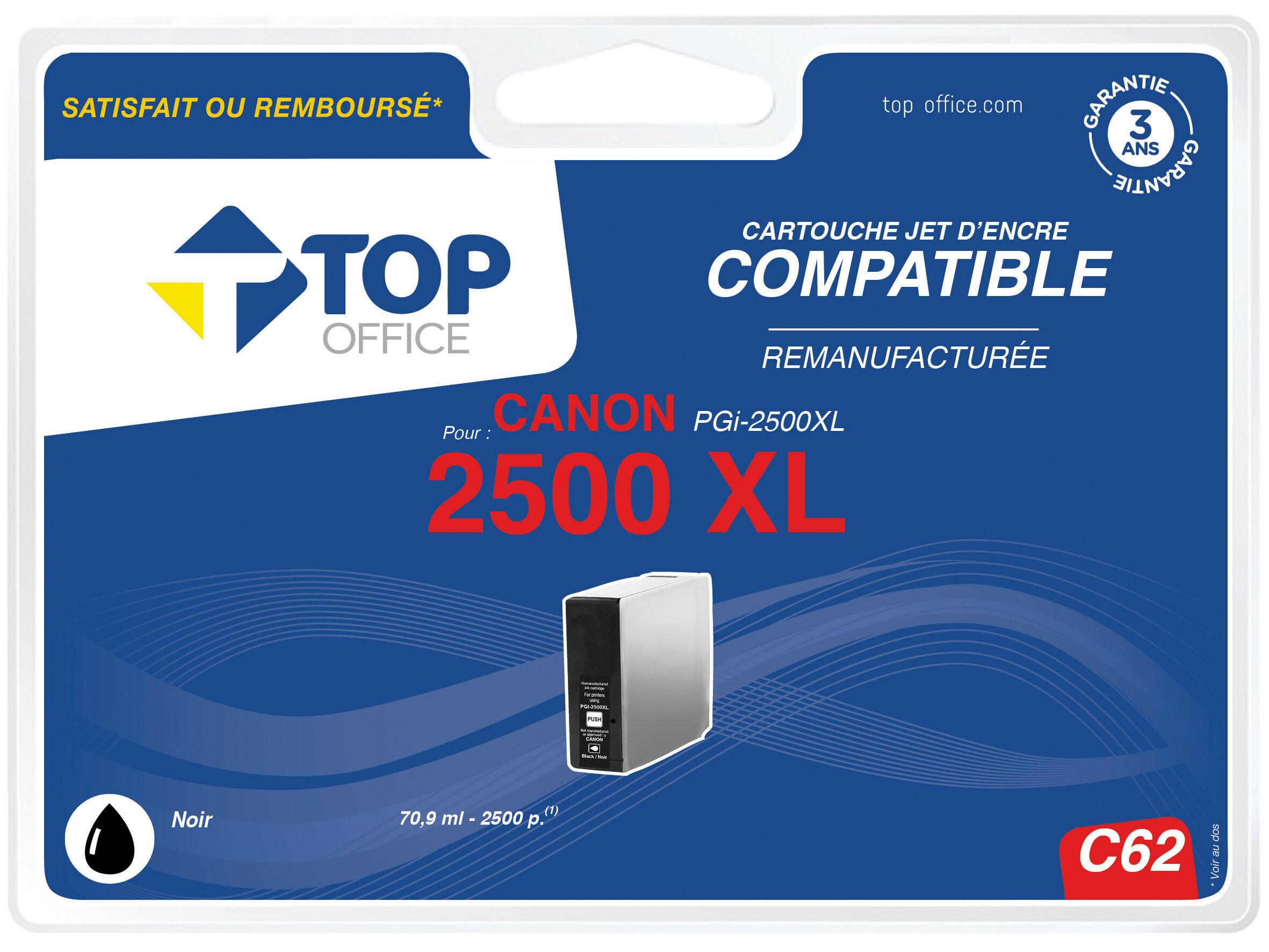 TOP OFFICE Cartouche jet d'encre compatible CANON : PGI 2500 XL - TOP OFFICE - No