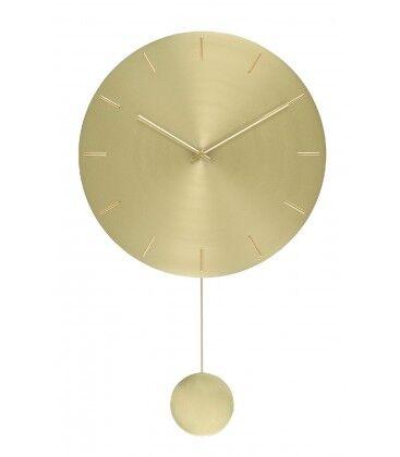 Wadiga Horloge Murale avec Balancier Ronde Dorée