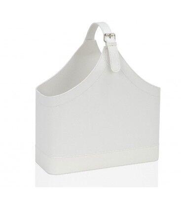 Wadiga Porte Revues Similicuir Blanc