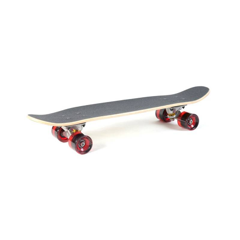 TRACKER TRUCKS Skateboard TRACKER TRUCKS Classic Wing Cruizer - Black 29' (73 cm) - Red Wheels