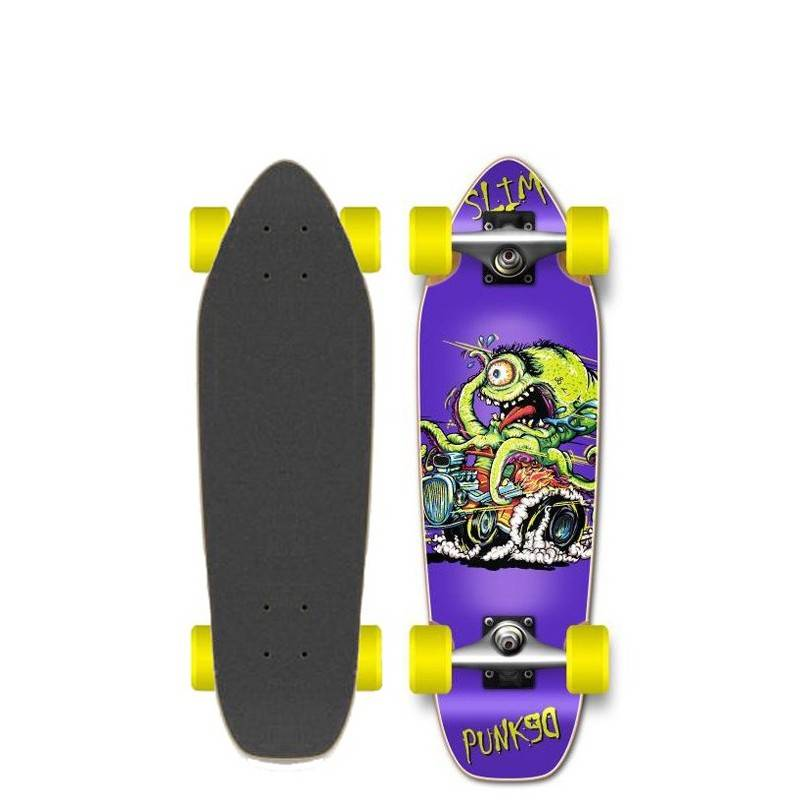 YOCAHER Skateboard Cruiser YOCAHER Punked Hot Rod Slim 27' (69 cm)