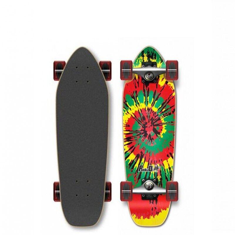 YOCAHER Skateboard Cruiser YOCAHER Punked Tiedye Rasta 27' (69 cm)