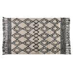 zago  Zago  Tapis à motifs noir et blanc à franges en laine 200 cm Lozi... par LeGuide.com Publicité