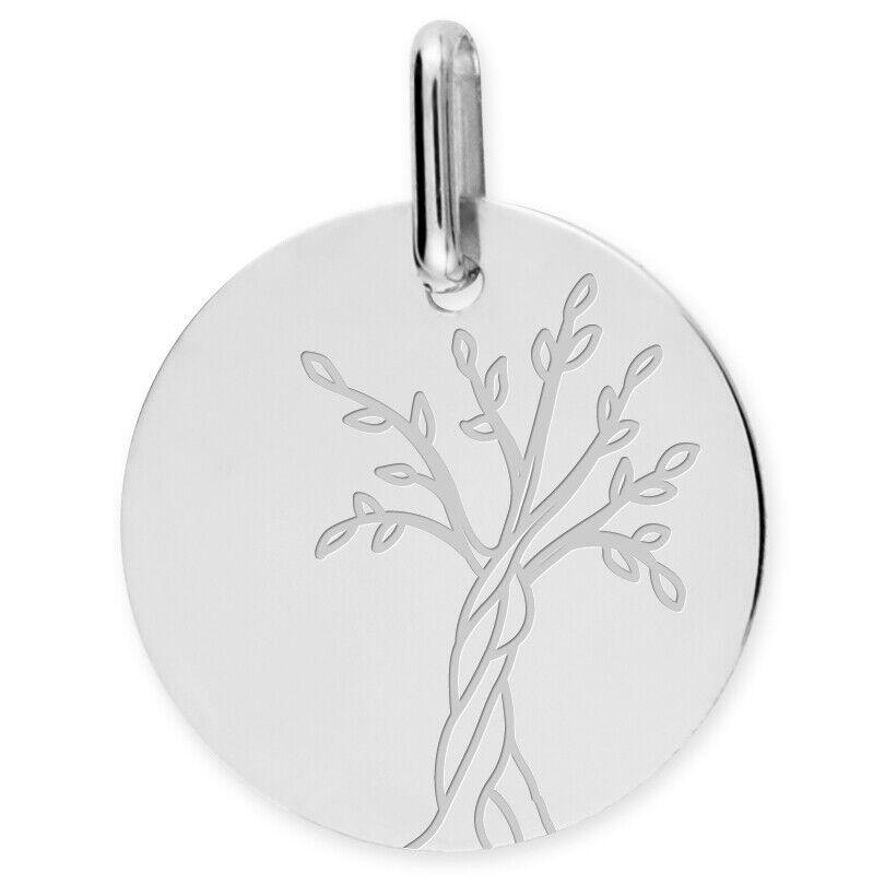 Mon Premier Bijou Médaille Arbre de vie naissant - Or blanc 18ct