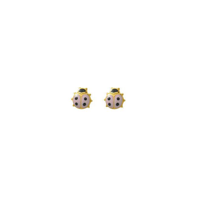 Mon Premier Bijou Boucles d'oreilles coccinelles - Vis - Or jaune 18ct