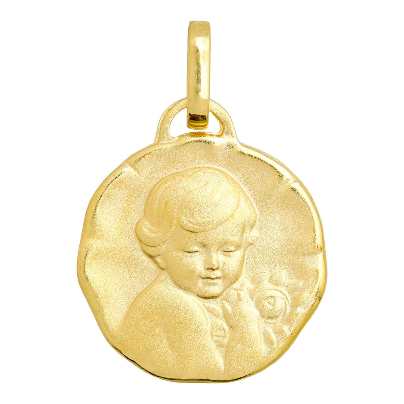 Mon Premier Bijou Médaille Chérubin - Or jaune 18ct